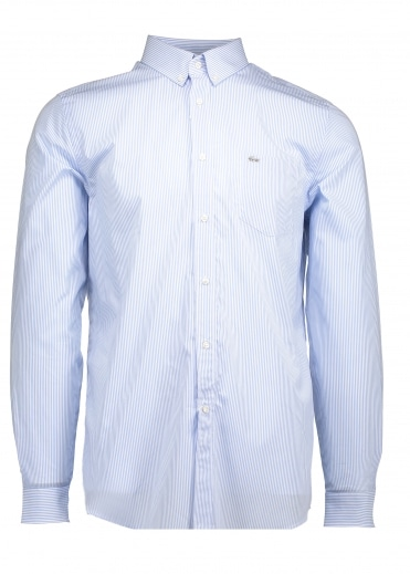 Regular Fit Stripe Shirt - Nattier Blue