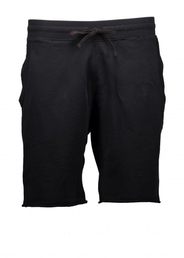 Raw Edge Sweatshort - Black