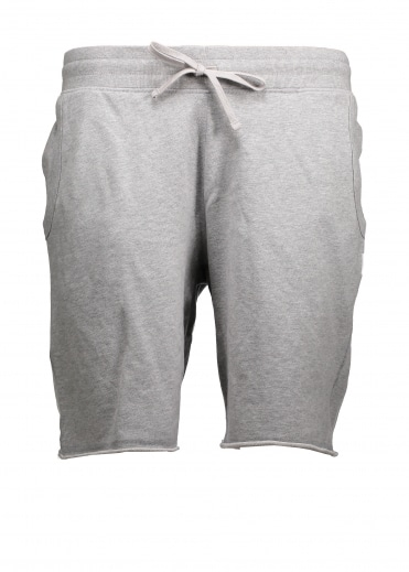 Raw Edge Sweatshort - Heather Grey