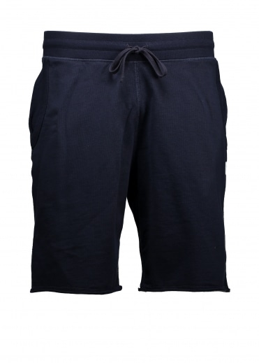 Raw Edge Sweatshort - Navy