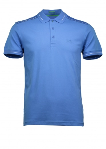 Green Paule Polo - Medium Blue