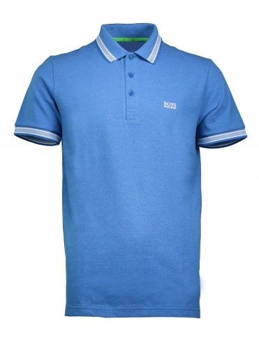 Green Paddy Polo - Open Blue