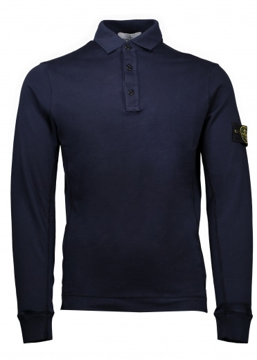 LS Mako Polo Shirt - Blue Marine