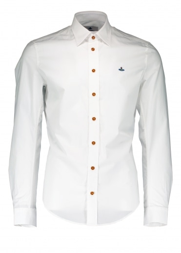 Embroidered Logo Shirt - White