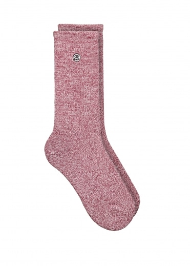 Mini SS Link Crew Socks - Burgundy