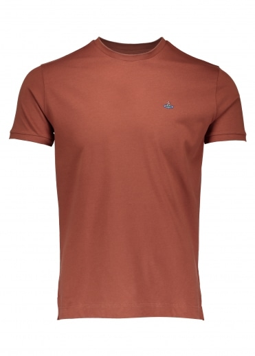 Embroidered Logo T-Shirt - Rust
