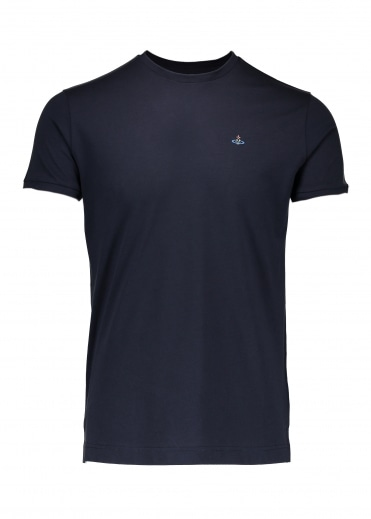 Embroidered Logo T-Shirt - Navy