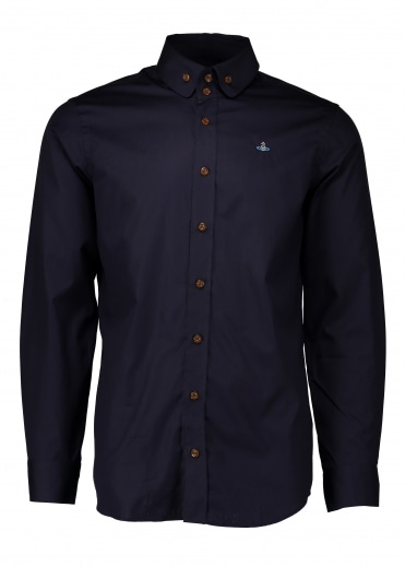 Two Button Krall Shirt - Navy