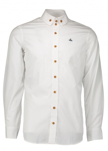 Two Button Krall Shirt - White