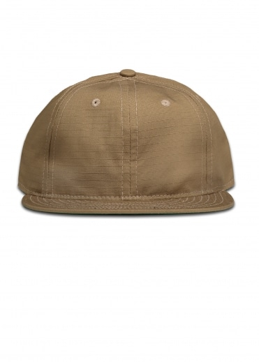 Ripstop 6 Panel Strap Back Cap - Sand