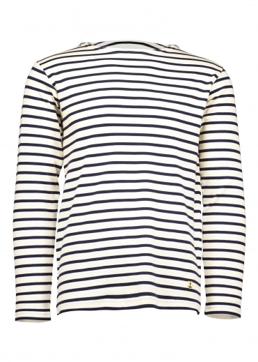 Heritage Breton Shirt LS - Nature / Seal