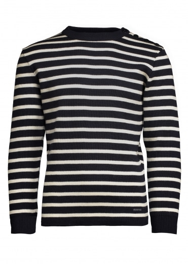 Striped Jumper - Navy / Nature