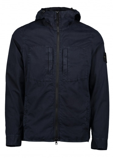 Hooded Overshirt - Navy Blue