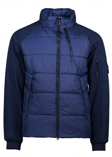 Padded Short Jacket - Blue Print