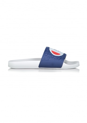 Logo Slides - White / Navy