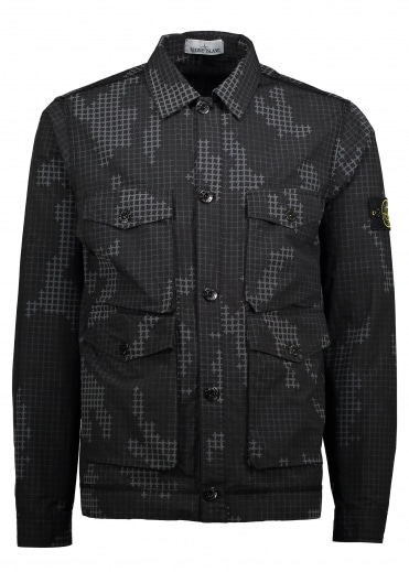Pattern Overshirt - Black