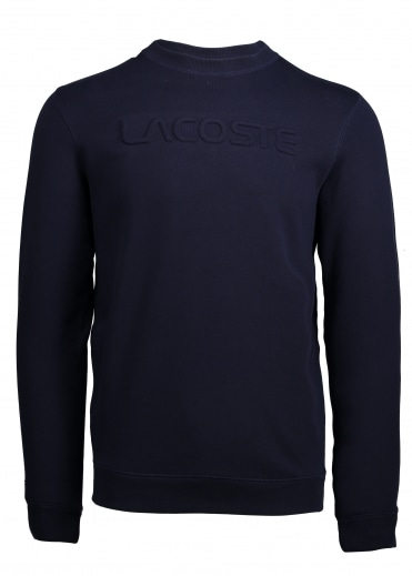 Lettering Sweat - Navy