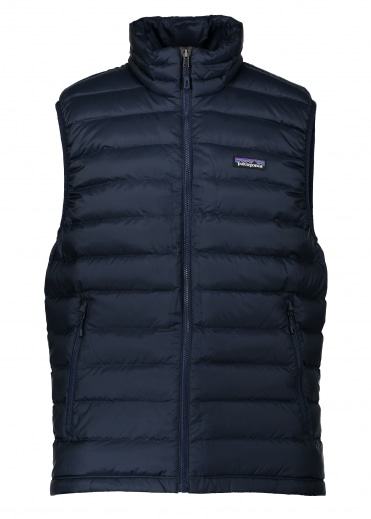 Down Sweater Vest - Navy Blue