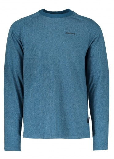 P-6 Logo LW Crew Sweat - Big Sur Blue