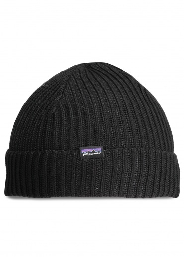 Fishermans Rolled Beanie - Black