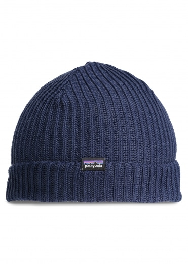 Fishermans Rolled Beanie - Navy