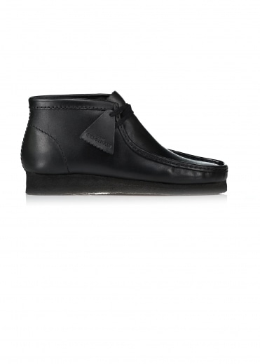 Leather Wallabee Boot - Black