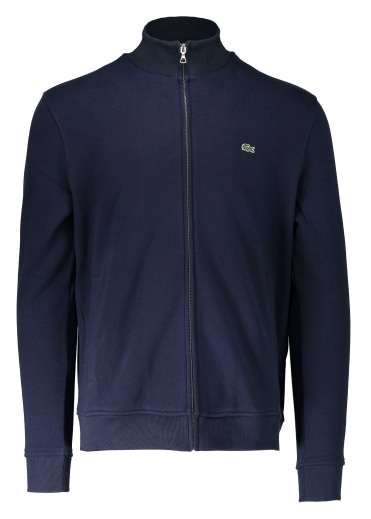 Zip Stand Up Collar Jacket - Navy
