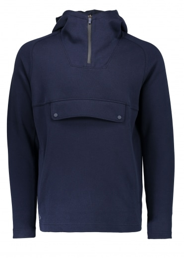Hooded Zip Sweatshirt - Navy Blue