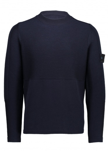 Ghost Piece Crew Neck - Navy Blue