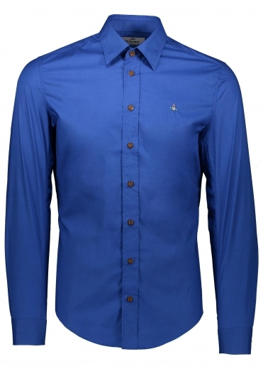 Embroidered Logo Shirt - Blue
