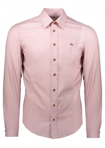 Embroidered Logo Shirt - Pink