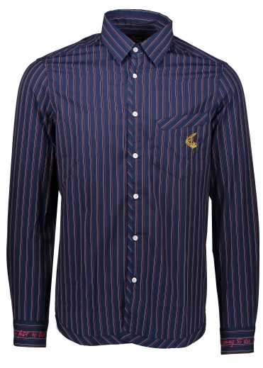 Classic Shirt - Burgundy Stripes