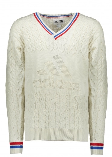 x Pharrell Williams Cable Jumper - White
