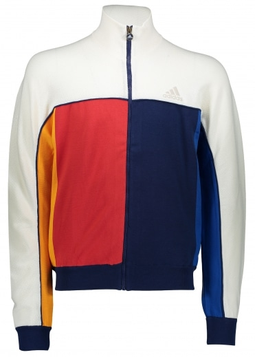 x Pharrell Williams NY Jacket - White / Blue / Gold