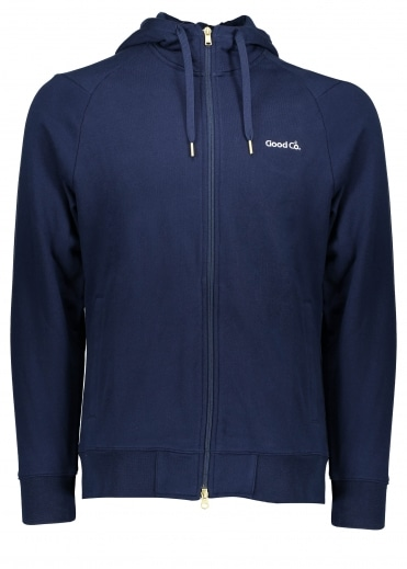 x The Good Company Full Zip Hoody - Navy