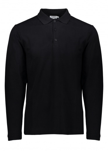 LS Textured Polo - Black