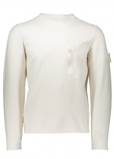 Zip Pocket Sweater - Natural