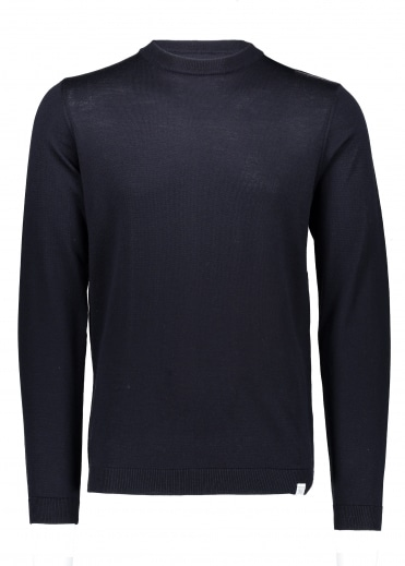 Sigfred Lambswool Racked - Navy