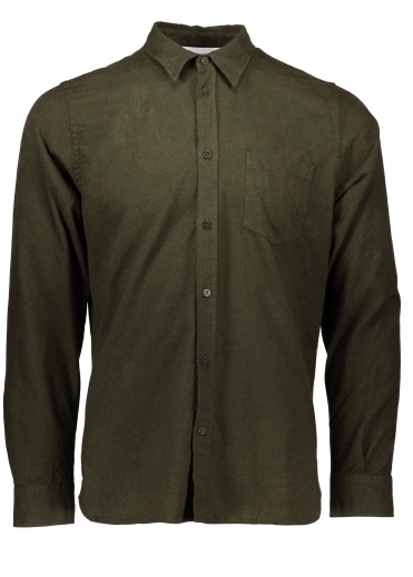 Hans Mouline Shirt - Dried Olive