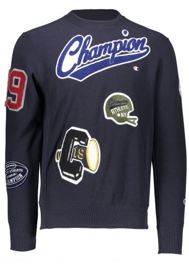 Vintage Patch Sweat - Navy