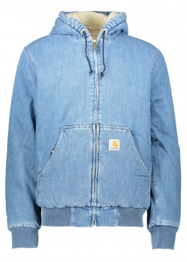 Active Jacket Blue - Stone Washed