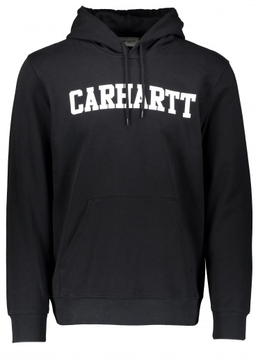 Hooded College Sweat - Black / White