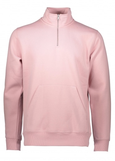 Chase Neck Zip Sweat - Soft Rose