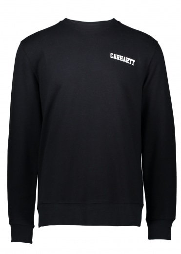 College Script Sweat - Black / White