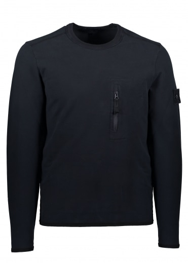 Zip Pocket Sweater - Navy Blue