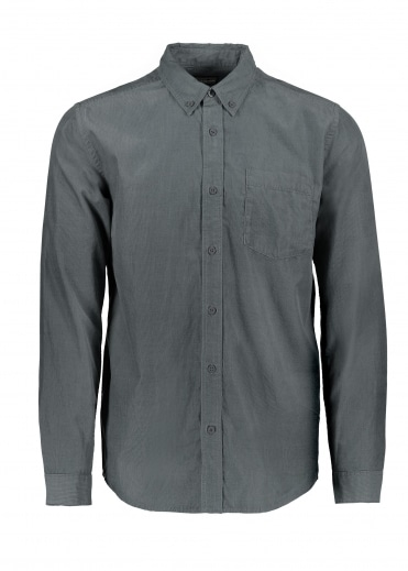 LS Bluffside Cord Shirt - Forge Grey