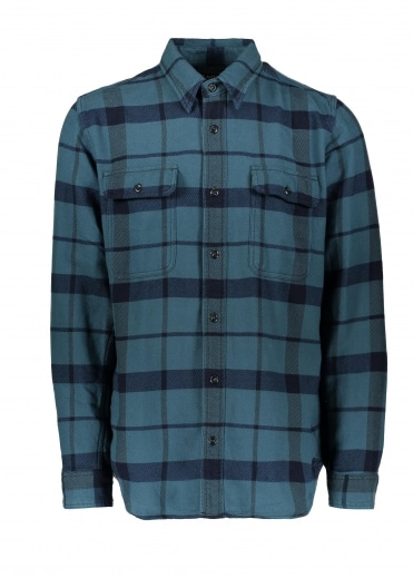 Vintage Flannel Work Shirt - Blue