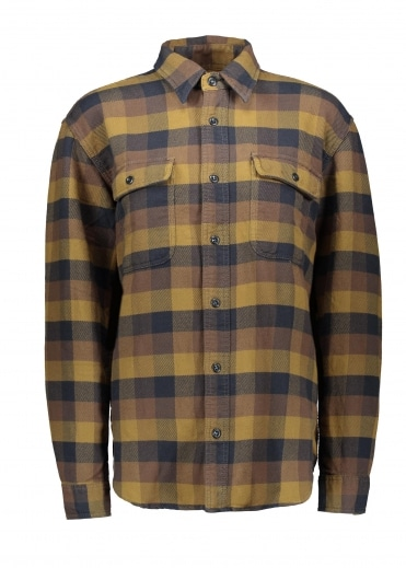 Vintage Flannel Work Shirt - Brown