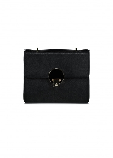 Opio Saffiano Shoulder Bag - Black