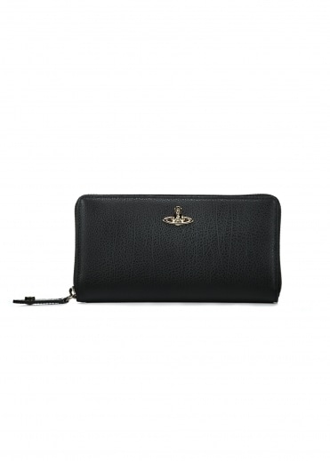 Zip Round Wallet Balmoral - Black